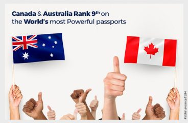 Canada and Australia rank 9th on the World's most Powerful passports
