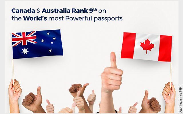 Canada and Australia the world's 9th most powerful passports