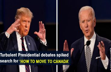 Turbulent Presidential debates spiked searches for 'How to move to Canada'