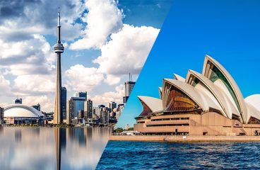What are the pros and cons of Canada versus Australia?